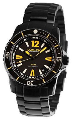 LUM-TEC 300M-3 Black PVD Men's Analog Watch