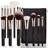 Eono by Amazon - Set de Brochas de Maquillaje Profesional 15 Piezas Pinceles de Maquillaje Set Premium Cosméticos Kit de Pinceles para Base de Maquillaje, Polvos, Crema(Rose Golden)