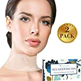 Silicone Neck Wrinkle Pad - Set of 2 Silicone Care Patches for Neck Wrinkles Treatment and Prevention - Reusable Anti Wrinkle Remover for Collette