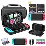Bestico Kit Protección para Nintendo Switch, Funda Switch Accesorios de Protección incluyen Funda Nintendo Switch,Estuche tarjeta de juego,3 Clear HD Protector de Pantalla,Joy-Con Estucha Silicona