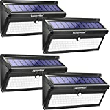 Luposwiten Solar Lights Outdoor, 100 LED Waterproof Solar Powered Motion Sensor Security Light, Solar Fence Wall Lights for Patio, Deck, Yard, Garden (4 Pack)