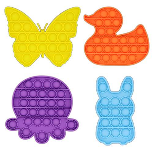 Honko Funsoon 4 Packs Push Pop Bubble Fidget Sensory Toy,...