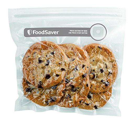FoodSaver Sacchetti con Zip Salva Freschezza Sottovuoto, senza BPA, 26 Pezzi, 950 ml