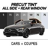 MotoShield Pro - Premium Precut Ceramic Window Tint for Cars,Coupes [99% Infrared Heat Reduction/Blocks 99% UV] 2mil - All Sides + Rear Window