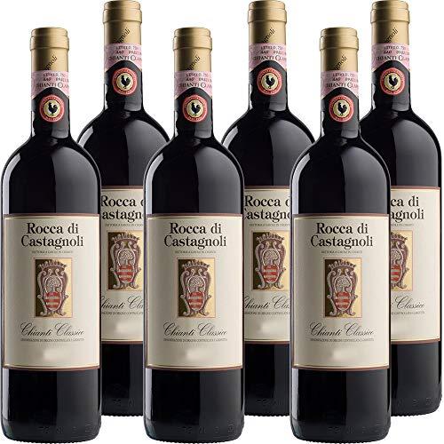 Chianti Classico | Rocca di Castagnoli | I Vini Rossi della Toscana | Confezione da 6 Bottiglie da 75 Cl | Idea Regalo