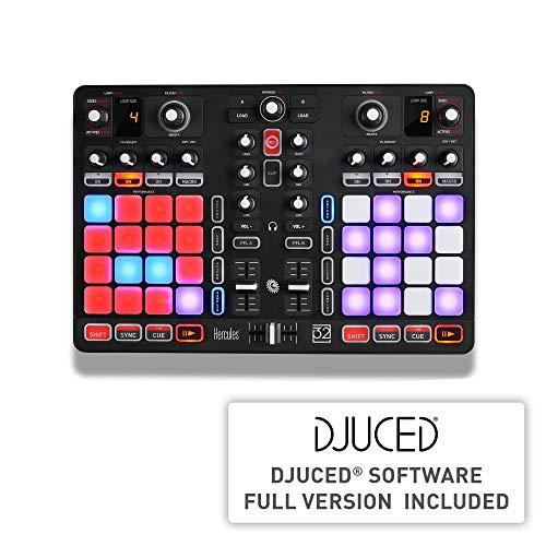 Hercules P32 DJ  Controller USB a 2 Banchi  Interfaccia Audio Integrata  32 Pad  Software DJUCED Incluso