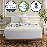 Sleep Innovations 2-inch Memory Foam Mattress Topper Full, Made in The USA with a 5-Year Warranty