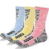 KOOOGEAR 3 Paires de Chaussettes de Randonnée pour Femmes, Anti-Ampoules, Coussin en Étancher,Respirantes, Chaudes, Anti-humidité,Support de la Voûte Plantaire pour Les Sports de Plein Air Trekking