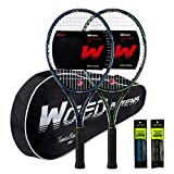 """WOED BATENS Adult 2 Player Tennis Racket Perfect for Beginner and Professional Players, 27"""" Speed..."""