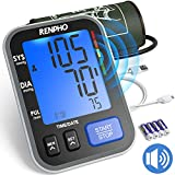 RENPHO Blood Pressure Monitor Upper Arm for Home Use with Speaker, Accurate Automatic Compact BP Machine with Extra Large Cuff 16.5 inch, Digital Large Display, 2-Users, 240 Recordings, FDA Approved