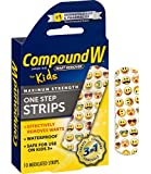 Compound W One Step Medicated Strips For Kids   Wart Removal   10 Strips