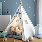 wilwolfer Teepee Tent for Kids Foldable Children Play Tents for Girl...