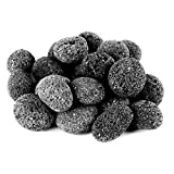 Skyflame Black Natural Tumbled Stones Round Lava Rock Pebbles for Indoor Outdoor Gas Fire Pit | Fireplaces | Garden Landscaping Decoration | Cultivation of Potted Plants | 10 Pounds | 1-2 Inch Size