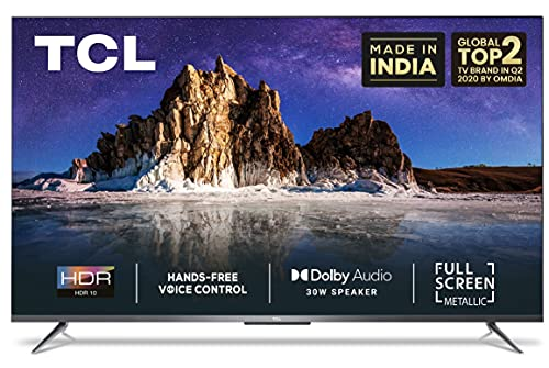 51lsrgMIKvS TCL 139 cm (55 inches) AI 4K Extremely HD Licensed Android Sensible LED TV 55P715 (Silver) (2020 Mannequin)   With Distant Much less Voice Management