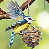 GartenAZ hochwertiger Meisenknödelhalter - Futterstation und Halterung - Aufhänger für Vogelfutter (2er Set)