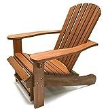 Outdoor Interiors CD3111 Eucalyptus Adirondack Chair and Built In...
