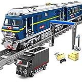FZC-YM Juego de construcción de Trenes, 1192 Piezas Dynamic City Railway Train DF 11Z, Ladrillos de Locomotora diésel, Modelo de Bloque de construcción DIY con luz