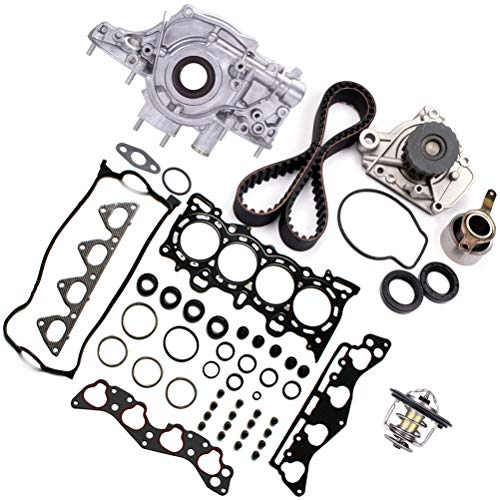 OCPTY Oil Pump Timing Belt Kit Head Gasket Sets Thermostat Fit For 1996-2000 for Honda Civic