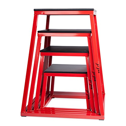j/fit Plyometric Jump Box Set of 4 - 12, 18, 24 & 30 Inches