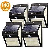 Litogo Lampe Solaire Extérieur 4 Pack 140 LED Lumiere Solaire Exterieur...