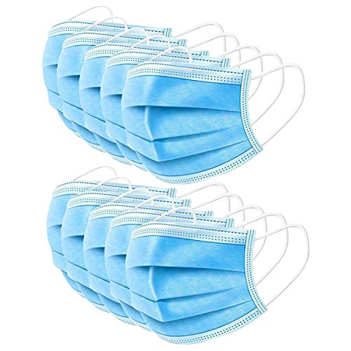 10PCS Disposable Mask Protective Mask Soft & Comfortable Filter Safety Face Mask for Dust Protection