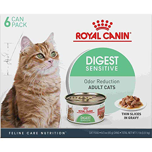 Royal Canin Feline Health Nutrition Digest Sensitive Thin Slices in Gravy Wet Cat Food Multipack, 3 oz, Count of 6