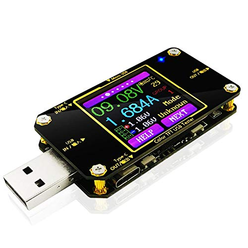 MakerHawk USB Power Meter Tester, Bluetooth USB...