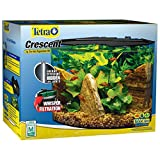 Tetra Crescent aquarium Kit 5 Gallons, Curved-Front Tank With LEDs