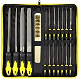NaiCasy Archivo Metal Conjunto de Archivos Planos de Archivo de Conjunto de Acero Conjunto de carpintería metálica manía Modelo Soft Grip Aplicación Ingeniero Archivo de Conjunto de 18pcs