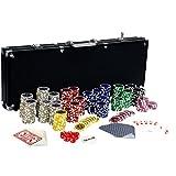 Maxstore Coffret de Poker Ultime Black Edition - 500 jetons Laser 12 g...