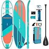 """Homech Stand Up Paddle Board 10'10 × 32"""" × 6"""" All Round iSUP Paddleboarding with Dual Chamber Hand Pump for SUP Racing Touring Fishing Water Yoga All Skill Levels"""