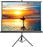 VIVO 100' Portable Indoor Outdoor Projector Screen, 100 Inch Diagonal...