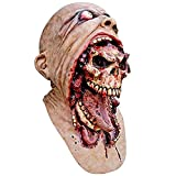 Xiaolanwelc@ Halloween Latex Bloody Mask Zombie Face Melting Walking Dead Horror Costume Party Prop