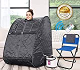 Himimi 2L Foldable Steam Sauna Portable Indoor Home Spa Weight Loss Detox with Chair Remote (Gray)