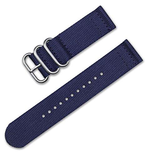 deBeer 24mm Military Ballistic Nylon 2-Piece Watch Band/Watch Strap - Navy