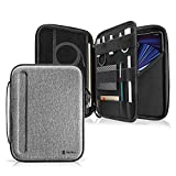 tomtoc Portfolio Case for 11-inch iPad Pro (3rd/2nd/1st Gen) M1 5G 2021-2018, 10.9-inch iPad Air 4, 10.2-in iPad 9th/8th/7th Gen with Keyboard, Carrying Storage Sleeve Bag with Accessories Compartment