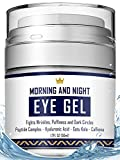 Eye Cream - Dark Circles & Under Eye Bags Treatment - Reduce Puffiness, Wrinkles - Effective Anti-Aging Eye Gel with Hyaluronic Acid, Gotu Kola Extract and Caffeine - Refreshing Serum - 1.7oz