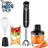 KOIOS 800W 4-in-1 Immersion Hand Blender, Titanium Plated, 12-Speed Multifunctional Ultra-Stick,...
