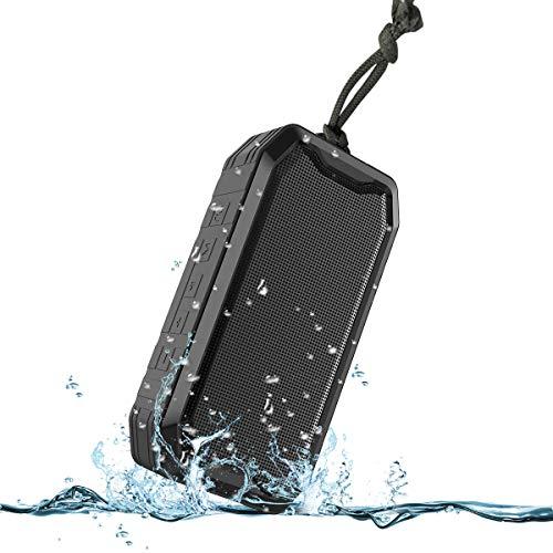 Bluetooth Lautsprecher, KKUYI Tragbarer Kabelloser Lautsprecher, Hervorragender Bass, 1200 mAh Akku, IPX7 Wasserschutz, Ideal für Zuhause, Büro, Party, Strand, Dusche