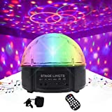 Outgeek DJ Ball, 12 Color LED Disco Lights Stage Light Sound Activated Rotating Party Lighting Bluetooth Speaker with Remote Control for Disco KTV Club Pub Show (Colorful-1)