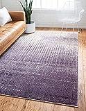 Unique Loom Del Mar Collection Contemporary Transitional Purple Area Rug (4' 0 x 6' 0)