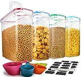 Lot de 4 boîtes de rangement pour céréales, 100% hermétiques, idéales pour...