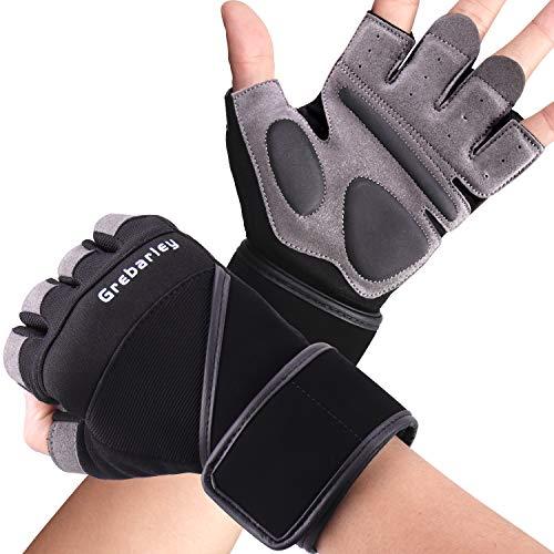 Grebarley Fitness Gloves Levantamiento de Pesas, protección Total de...