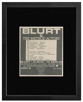 Blurt & the Method Actors - In Berlin 1981 Album & Tour Dates Framed Mini Poster - 18x18cm