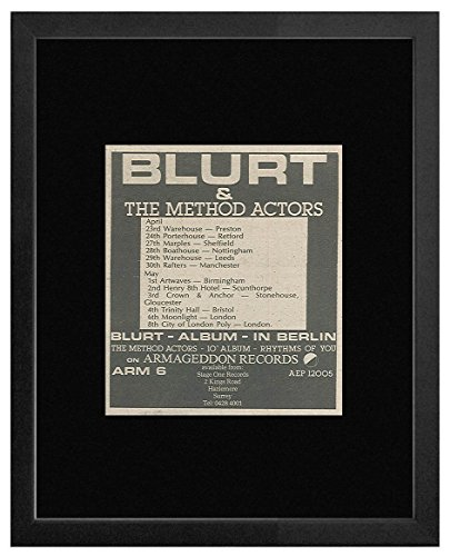 Blurt & the Method Actors - In Berlin 1981 Album & Tour Dates Framed Mini Poster - 18x18cm