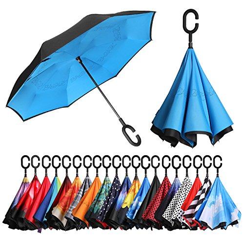 [Amazonブランド] Eono(イオーノ) 傘 逆さ傘 反転傘 折りたたみ傘 セルフ スタンディング 防風 UV 保護 ト...