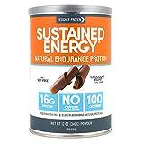 Designer Protein Sustained Energy, Chocolate Velvet, 12 Ounce, Endurance Protein Powder