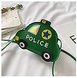 weichuang Mochila para niños con dibujos animados de policía, bolsa cruzada de hombro para niños pequeños, mochila de 6 colores (color: verde)