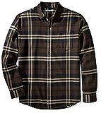 Amazon Essentials Chemise en Flanelle à Manches Longues et Coupe régulière. Button-Down-Shirts, Brown (Brown Plaid), X-Large