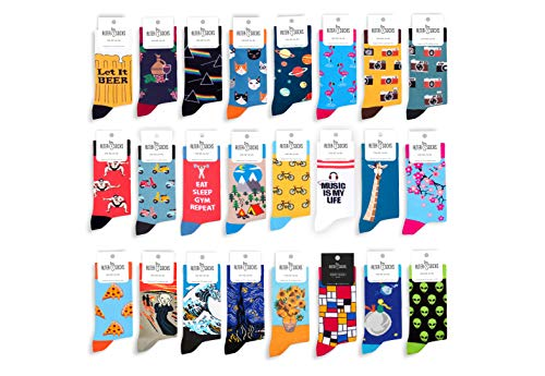 AlterSocks calzini divertenti calze donna e uomo calze simpatiche calze divertenti come regalo, cotone, taglia unica (Quadrati colorati)